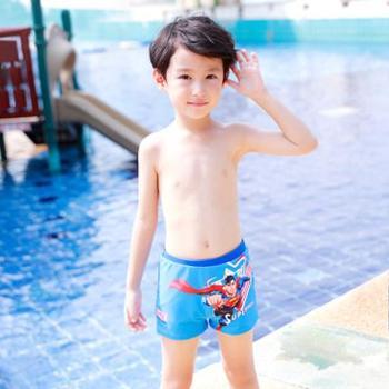 梵迪拉正义联盟超人儿童四角平角泳裤卡通印花小中大童游泳裤男童