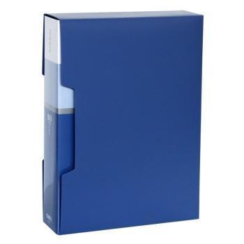 得力(deli)5006 办公必备A4/80页资料册 蓝色 单只装