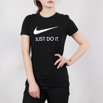 耐克女装运动休闲透气圆领短袖T恤CI1384-010-S