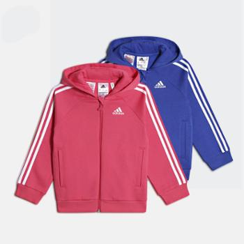 adidas阿迪达斯儿童大男童连帽夹克运动休闲外套CF7437CF7438