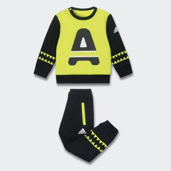 阿迪达斯儿童装男女婴小童卫衣长裤运动套装CE8226