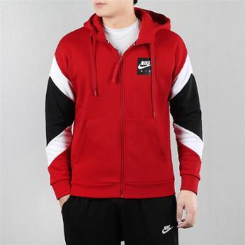 Nike耐克2020春款男装保暖连帽防风衣夹克外套CD9223-687