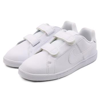 耐克NIKECOURTROYALE魔术贴低帮男女儿童休闲鞋板鞋833536-102