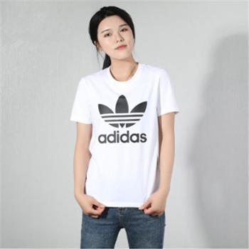 adidas阿迪达斯三叶草女子运动休闲短袖T恤FM3306