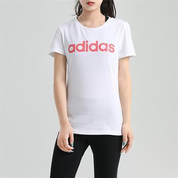 阿迪达斯adidasneo女装运动休闲透气短袖T恤GJ7918
