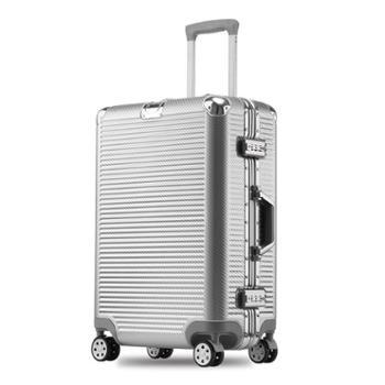 菲恩堡新款编织纹20寸万向轮拉杆箱24行李箱男女旅行箱
