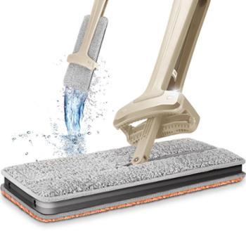 爱格日用品清洁工具双面懒人免手洗平板拖把尘推地拖可旋转