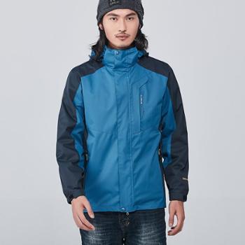 雷宾迪/LEIBINDI新款男女三合一冲锋衣透气保暖登山服XT5859