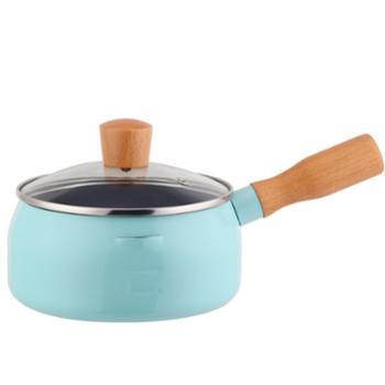 诺顿 热奶锅 煮面锅吉米原味MINI锅新款18CM不粘奶锅煮面锅木柄带盖易清洗
