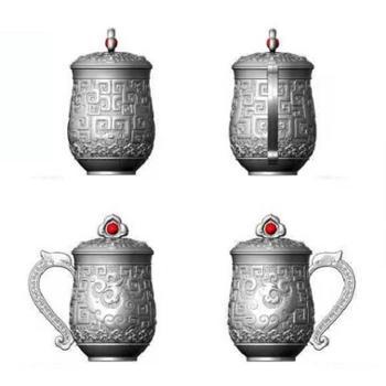 跃通银器 银杯办公杯纯银【男女款 12款可选】