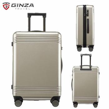 银座GINZA24寸德国拜耳PC行李箱静音耐磨万向轮拉杆箱A-9267L