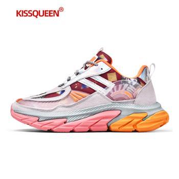 自由绽放KISSQUEEN新款男休闲运动鞋透气柔软男跑鞋6622