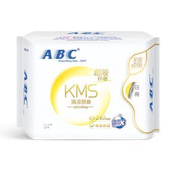 ABCKMS棉柔系列卫生巾纤薄日用240mm*8片