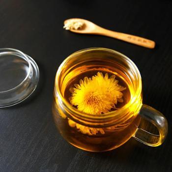 玻璃杯带盖泡茶杯过滤办公室水杯套装带把耐热杯子茶水分离花茶杯