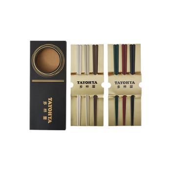 多样屋 樱语日式合金筷6色礼盒 TA030103132ZZ