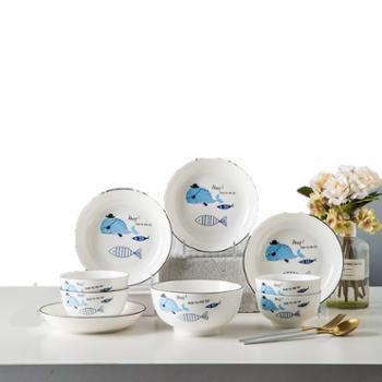 菲米生活 快乐鱼生 陶瓷餐具套装 FM-TC2012
