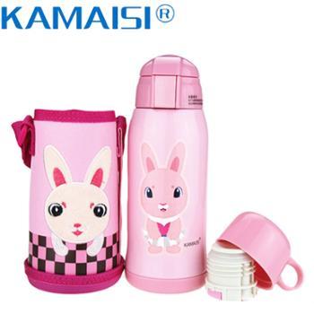 KAMAISI卡麦斯316不锈钢双盖儿童保温杯