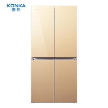 Konka/康佳BCD-386BX4S四门冰箱双门家用多门电冰箱十字对开门