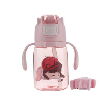 好奇小子婴儿喝水带吸管两用外出吸管杯