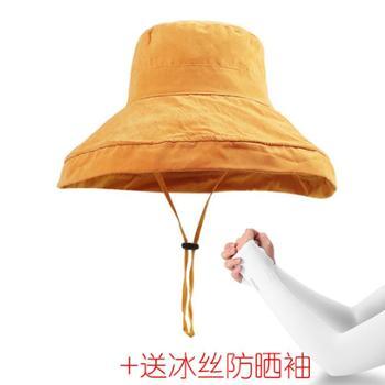 日系网红文艺百搭遮脸帽子赠送防晒冰丝袖
