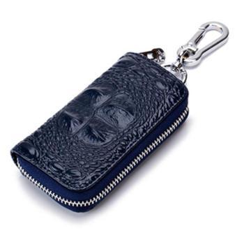 鳄鱼纹汽车钥匙包男士真皮拉链钥匙包厂家牛皮多功能腰挂锁匙包