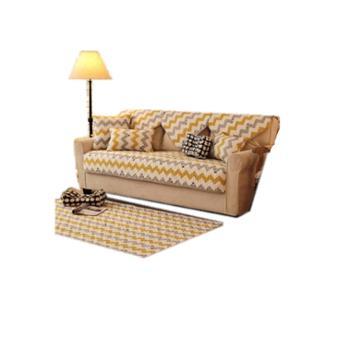 全棉布艺沙发垫北欧简约现代沙发垫套巾