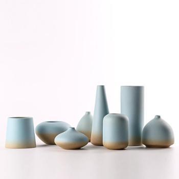 陶溪川景德镇陶瓷现代北欧简约干花水培花插禅意花器装饰花瓶摆件