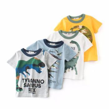 馨霓雅 男童夏款恐龙薄款T恤 9052