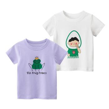馨霓雅女童夏棉质卡通短袖T恤2件装薄款