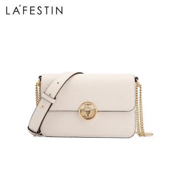 LaFestin/拉菲斯汀真皮女包单肩斜挎风琴链条小方包620721