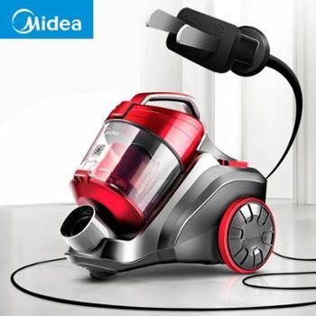 美的吸尘器家用小型强力大功率静音除螨地毯手持式吸尘机C3-148B