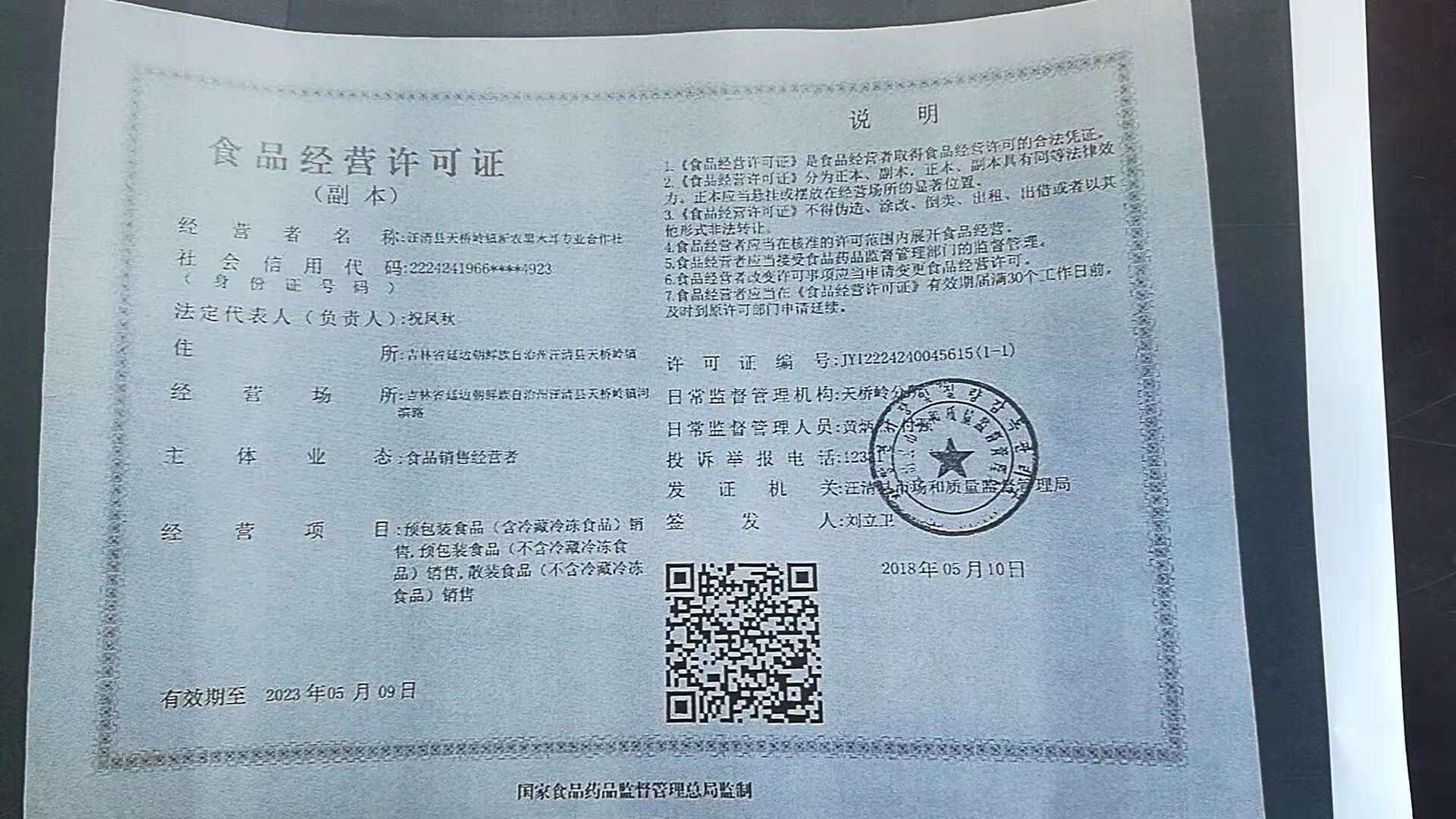 汪清县天桥岭新农黑木耳专业合作社
