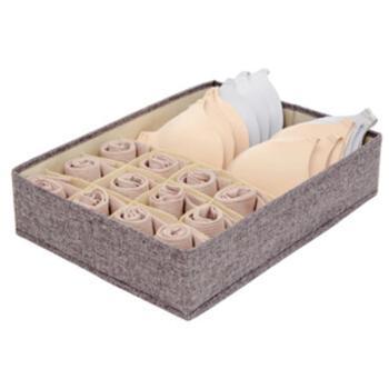 爱丽思收纳盒布艺抽屉可折叠分隔盒