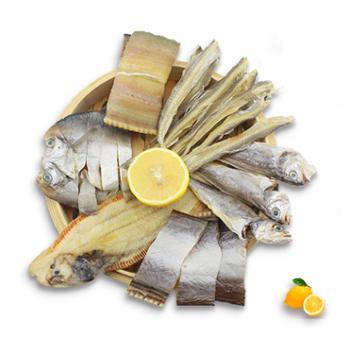 摩时渔鱼舟山鱼虾类鱼鲞组合拼盘2斤装