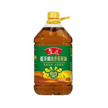 鲁花 低芥酸浓香物理压榨菜籽油 5L