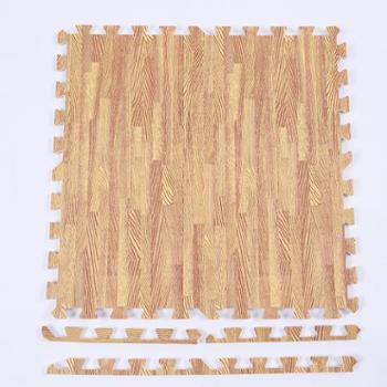 家用木纹泡沫地垫儿童拼接爬行垫加厚卧室满铺宝宝拼图仿木地板垫