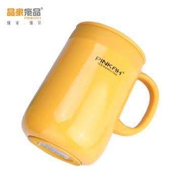 品家家品304办公室保温杯带手柄马克杯咖啡杯