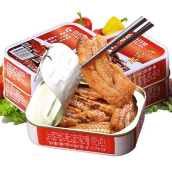日月棠台湾进口鳗鱼罐头即食海鲜罐头100g*4罐