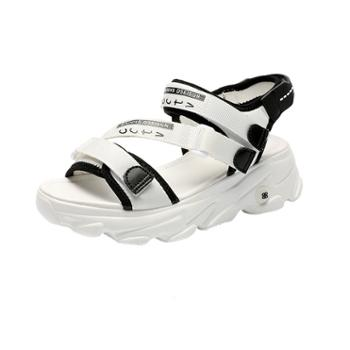 yolandazula防水台透气休闲皮凉鞋户外女鞋