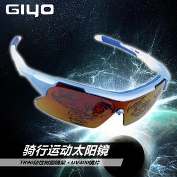 GIYO骑行眼镜偏光镜 户外自行车眼镜 男女防风沙镜运动装备防尘