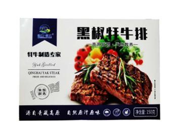 牧仁青海黑椒牦牛牛排150克X5盒