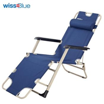 维仕蓝户外单人三用午休折叠床靠椅