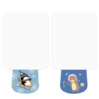 婴侍卫婴幼儿纯棉吸汗巾(6层M码)企鹅+小熊YSW058