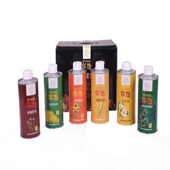 华饴 小罐油礼盒 独立包装6种优质食用植物油 500ML*6