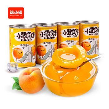 小覃同学新鲜黄桃罐头425g*4