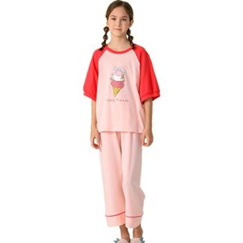 红豆HOdo女童居家服套装全棉