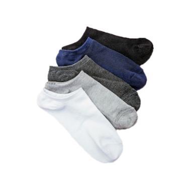 Asrla生活休闲纯色船袜5双装棉袜纯色袜子低口